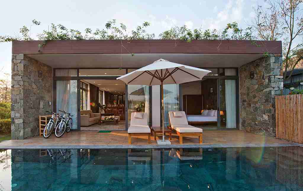 Các villa đều có hồ bơi riêng